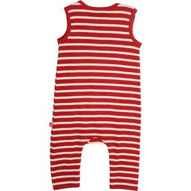 Elkline Beachbaby Overall Kids chilipepperred-white